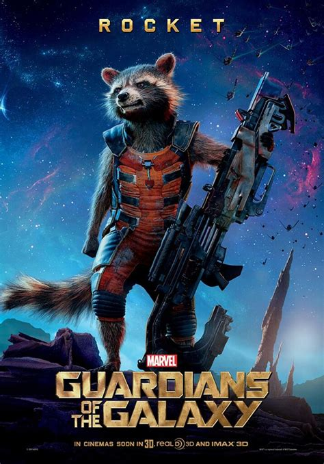 'Guardians of the Galaxy' character posters of Rocket