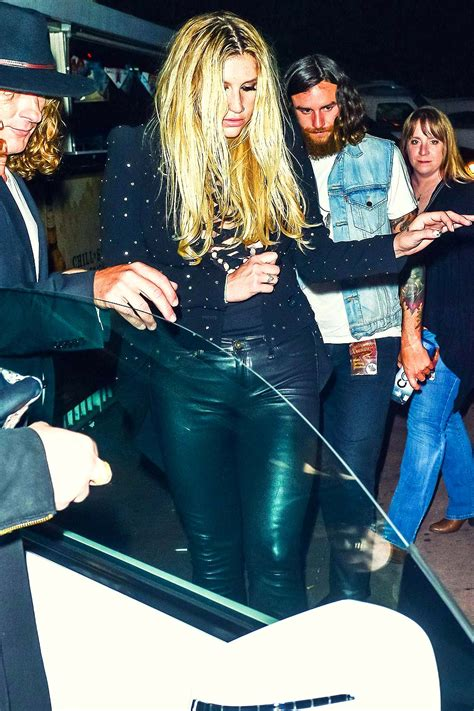 Kesha leaving The Roxy in Hollywood - Leather Celebrities