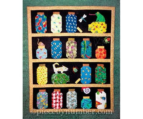 Escaping Bugs Bottle Quilt pattern paper pieced quilt   Etsy