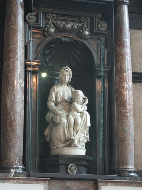 This sculpture, by Michelangelo is in 'Our Lady's Church