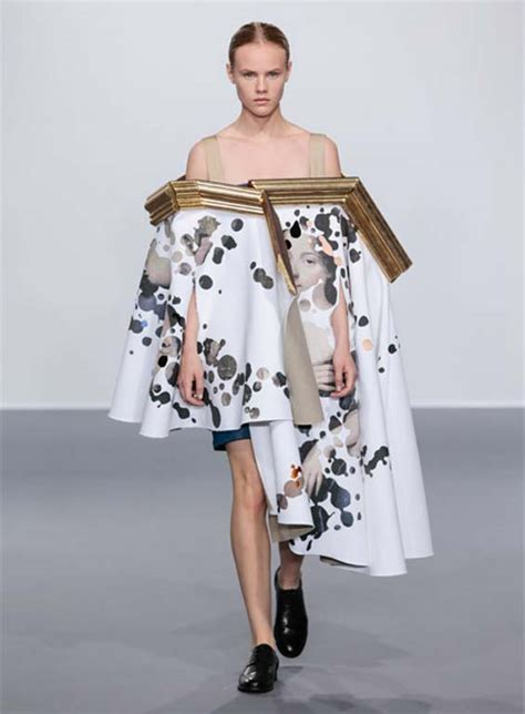 Famous Designers Create Dresses Out Of Framed Paintings