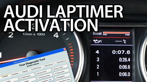 How to activate Audi laptimer, oil temp,
