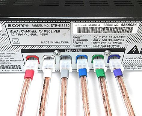 6 Home Theater Speaker Cable Wires: Sony & Samsung DVD