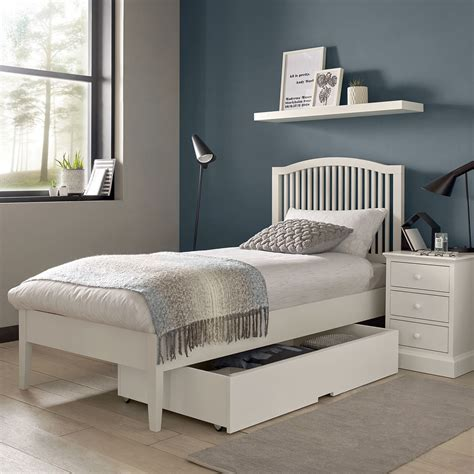 Ashby White Single 3ft Bed Frame • Upstairs Downstairs