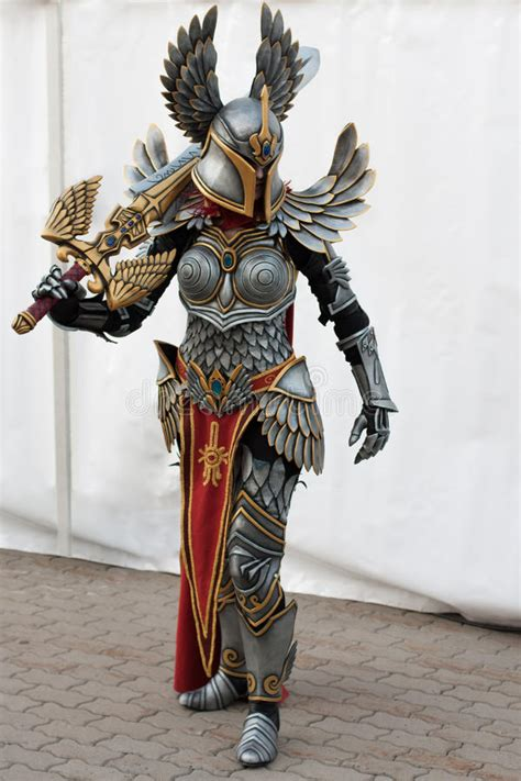 Cosplayer Dressed As The Character Haven Paladin From Game